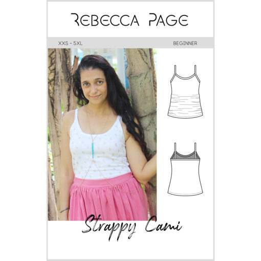 The Strappy Cami - the ultimate camisole sewing pattern for ladies sizes XXS to 5XL. Wear as an extra layer for warmth and/ or modesty, or wear it as a top.