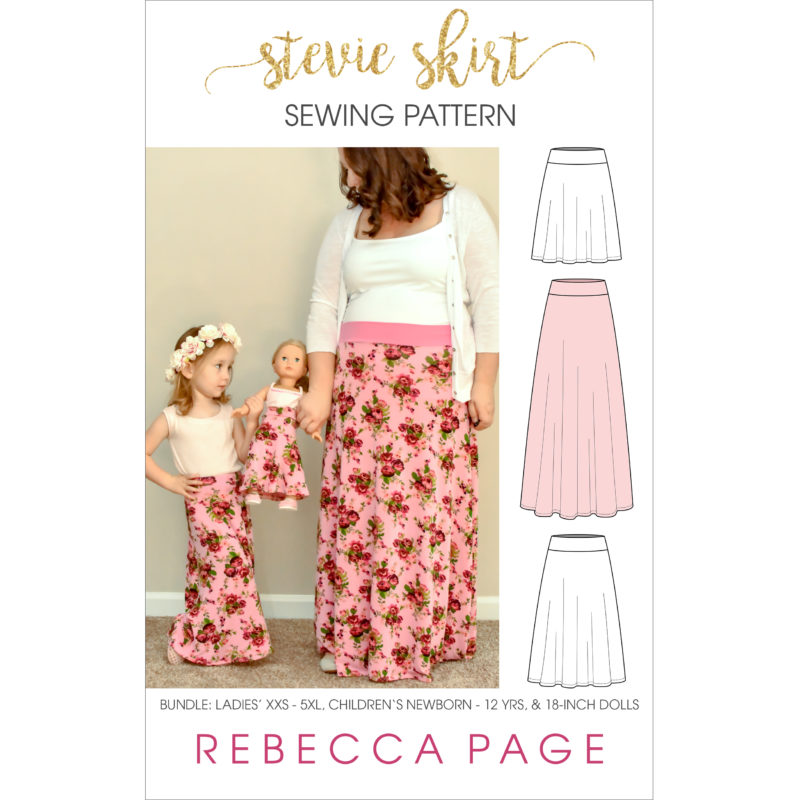 "What sews up quicker than you can say ""jersey skirt sewing pattern""? Not quite this Stevie skirt but it does come in at a very close second!"