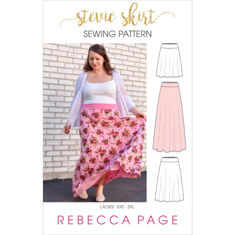 "What sews up quicker than you can say ""ladies jersey skirt sewing pattern""? Not quite this Stevie skirt but it does come in at a very close second!"