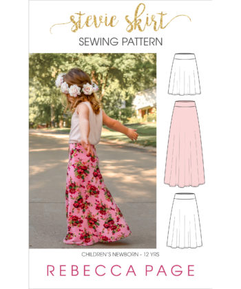 "What sews up quicker than you can say ""childrens jersey skirt sewing pattern""? Not quite this Stevie skirt but it does come in at a very close second!"