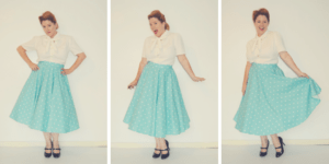 Vintage Sewing - the beuatiful Betty circle skirt by Rebecca Page. IT HAS POCKETS!