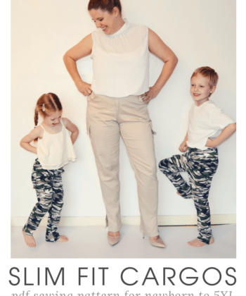 Pockets are important. We need pockets for all the things and this ladies and childs bundle cargo pants sewing pattern is all about the pockets!