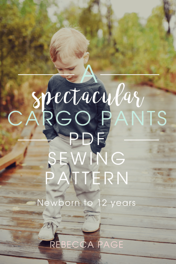 Pockets are important. We need pockets for all the things and this childs cargo pants sewing pattern, for boys and girls, is all about the pockets!