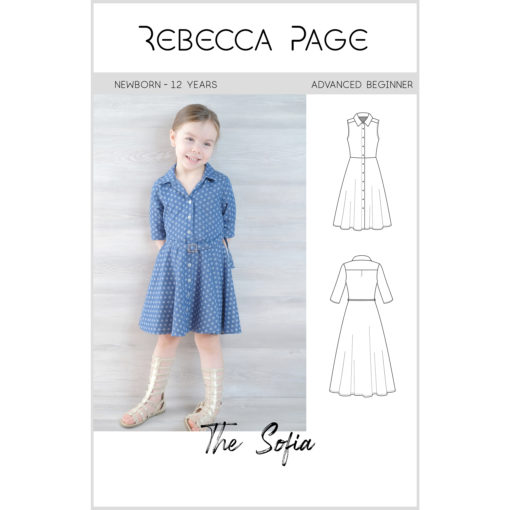 "The words ""simply"" and ""beautiful"" take shape in Sofia, the childrens shirt dress sewing pattern. Add her to your pattern collection now!"