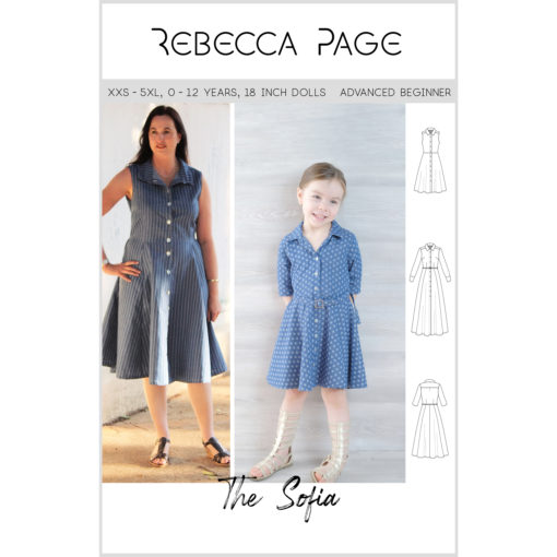 The Sofia is simple and elegant, the perfect shirt dress sewing pattern. Add her to your pattern collection now!
