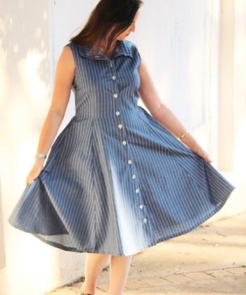 "The words ""simply beautiful"" and ""everyday elegance"" take shape in Sofia, the ladies shirt dress sewing pattern. Add her to your pattern collection!"