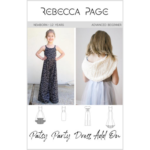 Patsy is the girls party sewing pattern of your dreams! All about glamour, she is sure to become your favourite LBD (lovely beautiful dress)!
