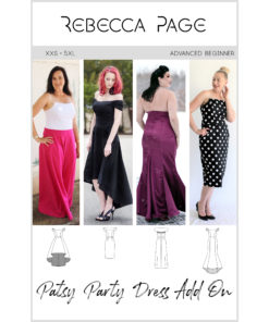 Patsy is the free ladies strapless sewing pattern of your dreams! All about glamour, she is sure to become your favourite LBD (lovely beautiful dress)!