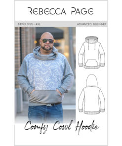 Everyone needs a hoodie and now everyone can have one with the mens hoodie sewing pattern that goes hand in hand with the ladies' and children's Comfy Cowls