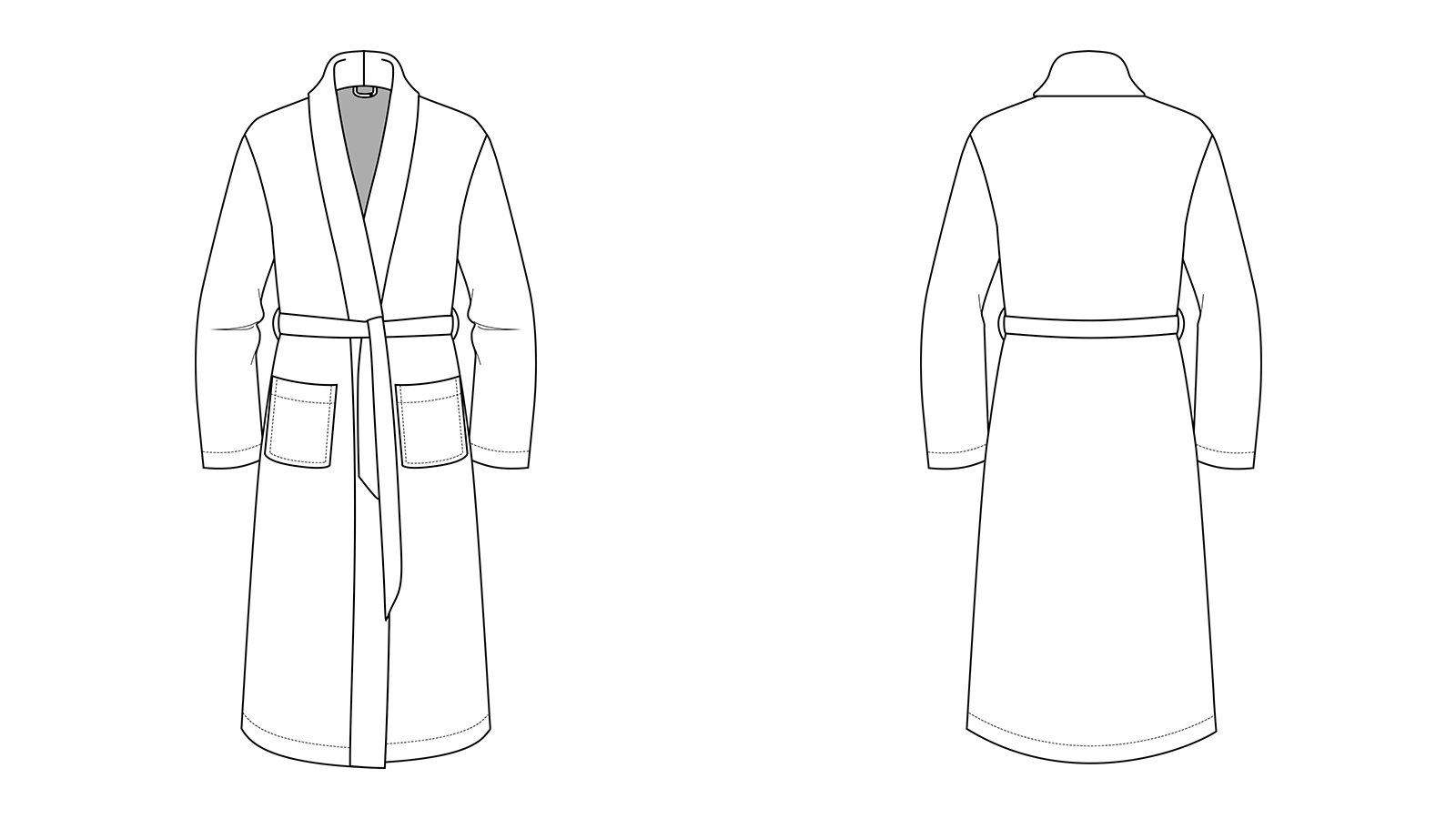Adults Bathrobe Sewing Pattern The Relaxation Robe Rebecca Page
