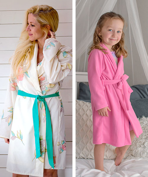 Sometimes, the most productive thing you can do is relax! This family bathrobe sewing pattern is exactly what you need for family relaxing to the maxing.