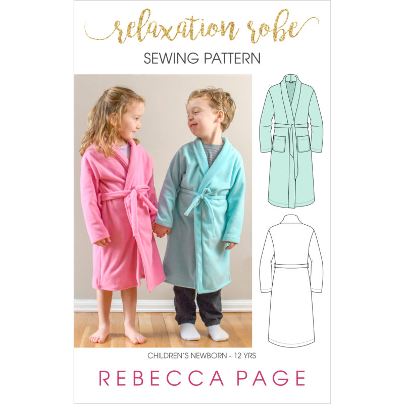 Sometimes, the most productive thing you can do is relax! And this childrens bathrobe sewing pattern is exactly what you need for relaxing to the maxing.