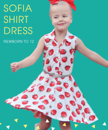 """The words """"simply beautiful"""" and """"everyday elegance"""" take shape in Sofia, the shirt dress sewing pattern. Add her to your pattern collection now!"""