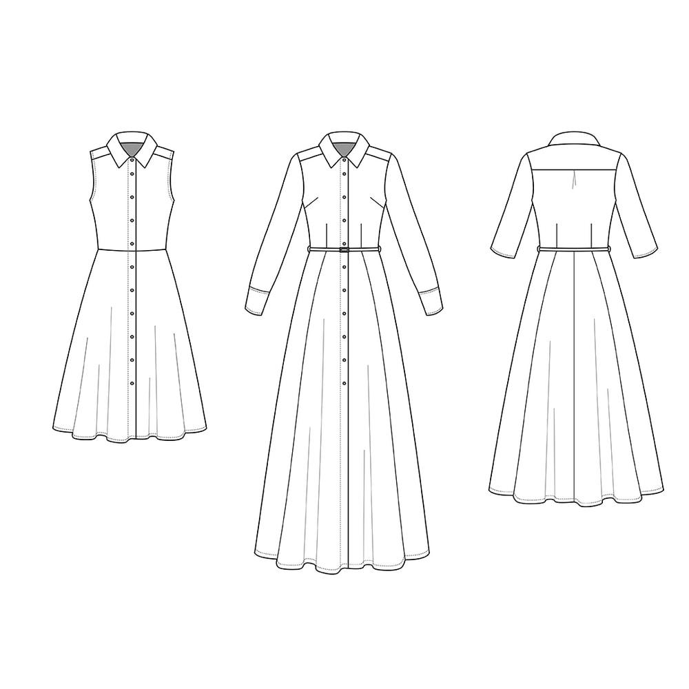 The Sofia Shirt Dress - Sewing Pattern by Rebecca Page