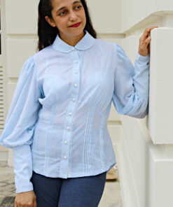 With this ladies vintage blouse sewing pattern the supremely feminine and elegantly chic styles of days gone by can be recreated at home.