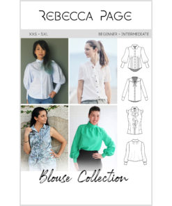 A beautiful bundle of ladies blouse sewing patterns. The collection includes the Brielle, the Madison, the Riviera Ruffle, and the Very Vintage patterns.