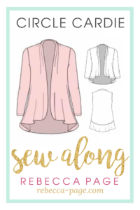 Come join us for a sew along....! Over 10 days, we will be working our way through the Circle Cardie and we would love for you to join us!