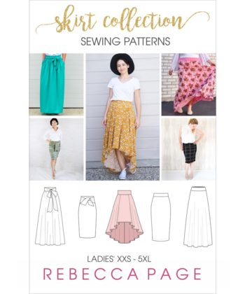 A beautiful collection of ladies skirt sewing patterns, including the Hayley, the Stevie, the Arabella, the Peggy, and the Paige.