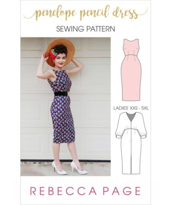 The Penelope ladies pencil dress sewing pattern is the epitome of style and elegance; a vintage-inspired heirloom-quality sew!