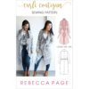 This ladies knit coat sewing pattern is the perfect blend of cardigan and coat: soft and drapey like a cardi, and shaped at the waist like a coat.