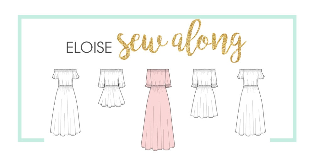 Come join us for the Eloise sew along! We'll be working our way through this lovely summery dress and top sewing pattern and would love for you to join us!