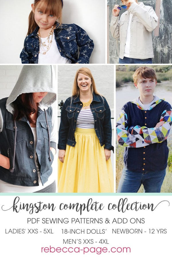 The ultimate classic clothing piece that is the perfect finishing touch for any outfit is this Kingston denim jacket pattern plus Add On for all the extras!