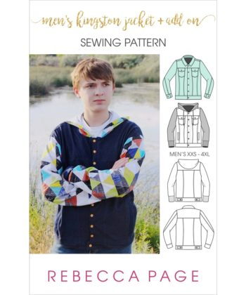 The ultimate classic cool clothing piece that is the perfect finishing touch for any outfit is this Kingston mens jacket sewing pattern plus the Add On!
