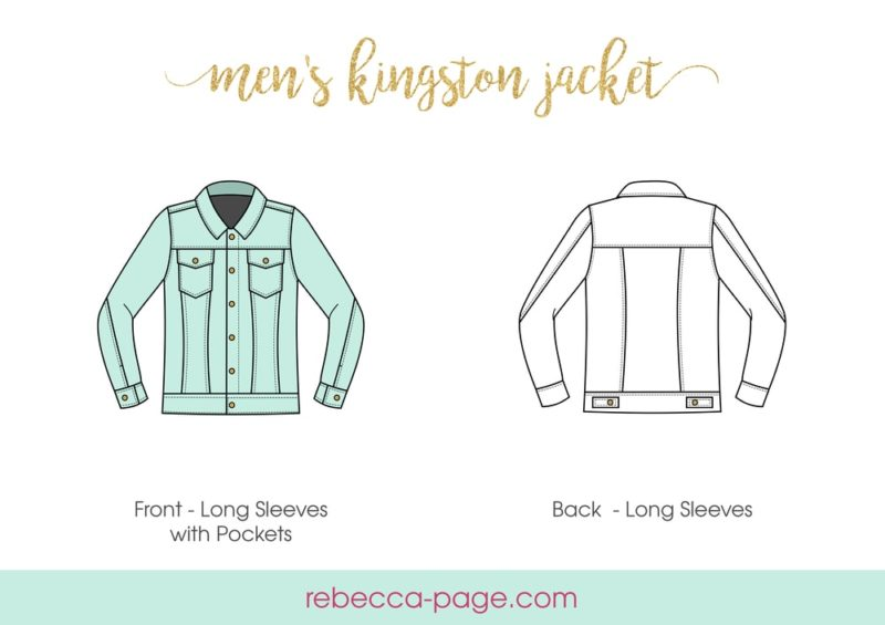 The Men's Kingston Jacket, a beautifully-finished mens denim jacket pattern, is the perfect final touch for any outfit! Cool factor for days!