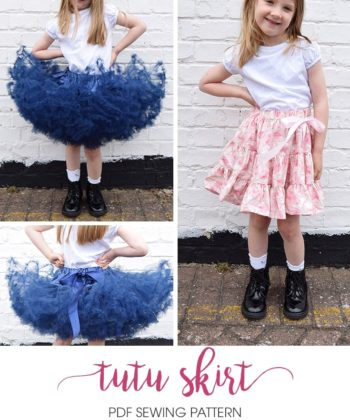 This wonderfully full and fabulously twirly childrens tutu skirt sewing pattern is tutu cute to handle and is a brilliant addition to any skirt collection!