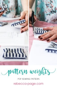 Keep your patterns firmly in place when cutting out your fabric for those gorgeous sews with this easy to make pattern weights sewing pattern
