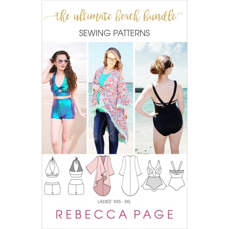 A beautiful collection of ladies swimwear sewing patterns. The bundle includes the Monaco, the Bondi, and the Savannah swimwear patterns!