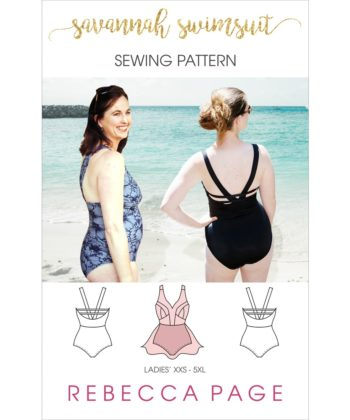 Summertime… and the livin' is easy! This ladies swimsuit sewing pattern is all about lovely, shaped lines, a beautiful, flattering fit, and summer comfort!
