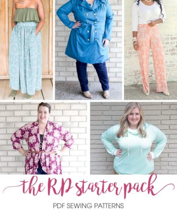 This is THE must-have sewing pattern starter pack! The perfect collection of XXS to 5XL patterns to get you started on your RP journey.