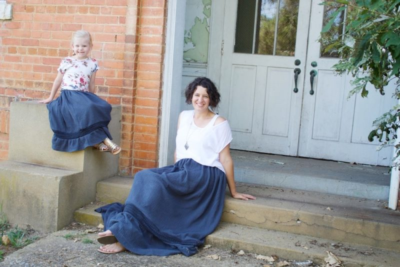 The Isabella boho maxi skirt sewing pattern is boho chic; a a fun look that combines cute, flattering silhouettes, comfort, and a pinch of unique quirk.
