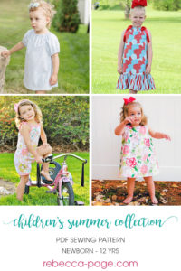 This Children's Summer Collection of patterns is wonderful value. Summer sewing for the kidlets just got a whole lot cuter!