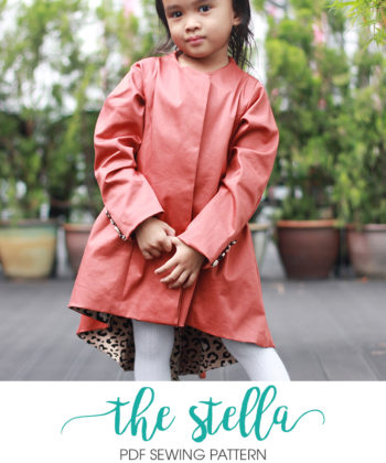 The Stella childrens coat sewing pattern is a WOW piece. Fully lined, tailored, and classically beautiful, it's perfect for extra warmth and style!