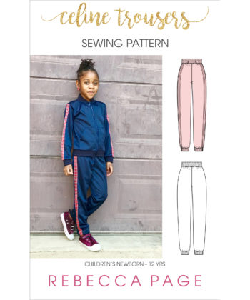 For sports luxe you can dress up or down, the Celine children's trousers sewing pattern is your new go to. This beginner pattern is a quick rewarding sew.
