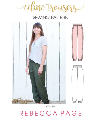 For sports luxe you can dress up or down, the Celine ladies trousers sewing pattern is your new go to. This beginner-level pattern is a quick rewarding sew.