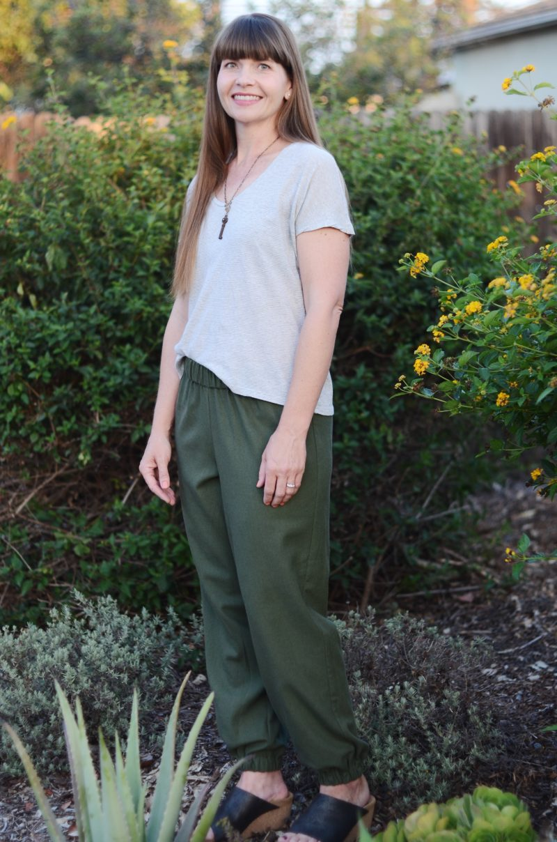For sports luxe you can dress up or down, the Celine trousers are your new go to. Comfy and stylish, this beginner-level pattern is a quick rewarding sew. You can use almost any knit OR woven fabric so it's a stash pleaser too!