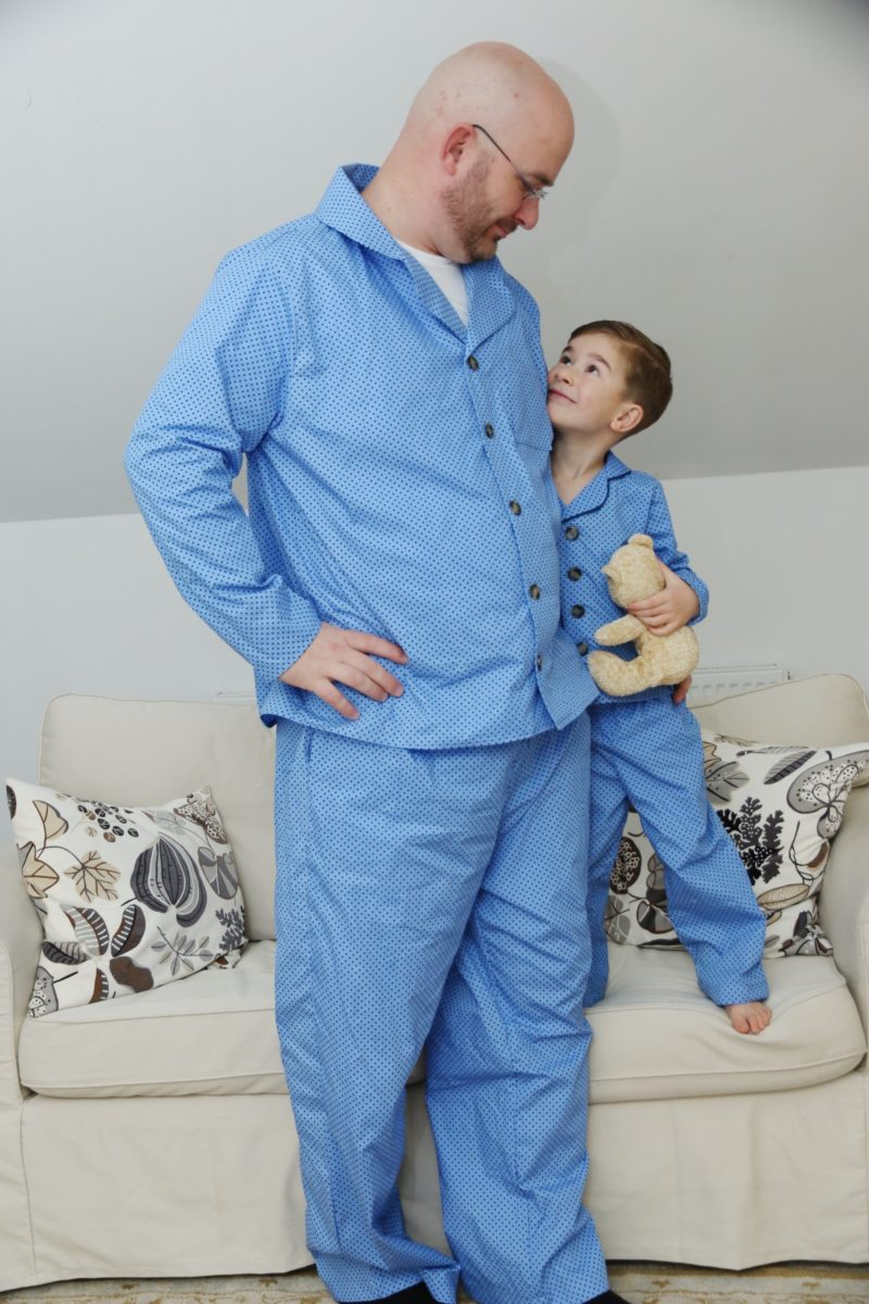 This childrens pjs sewing pattern will see you through all seasons and preferences: short sleeves, long sleeves, trousers, or shorties.