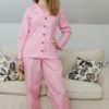 This ladies pjs sewing pattern will see you through all seasons and preferences: short sleeves, long sleeves, trousers, or shorties.