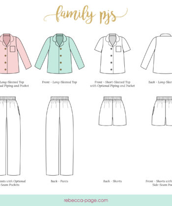 Whether you're a mom, dad, aunt, uncle, brother, sister, daughter, son, granny, grandpa, or even neighbour and friend... the whole family will adore this button up pjs sewing pattern.
