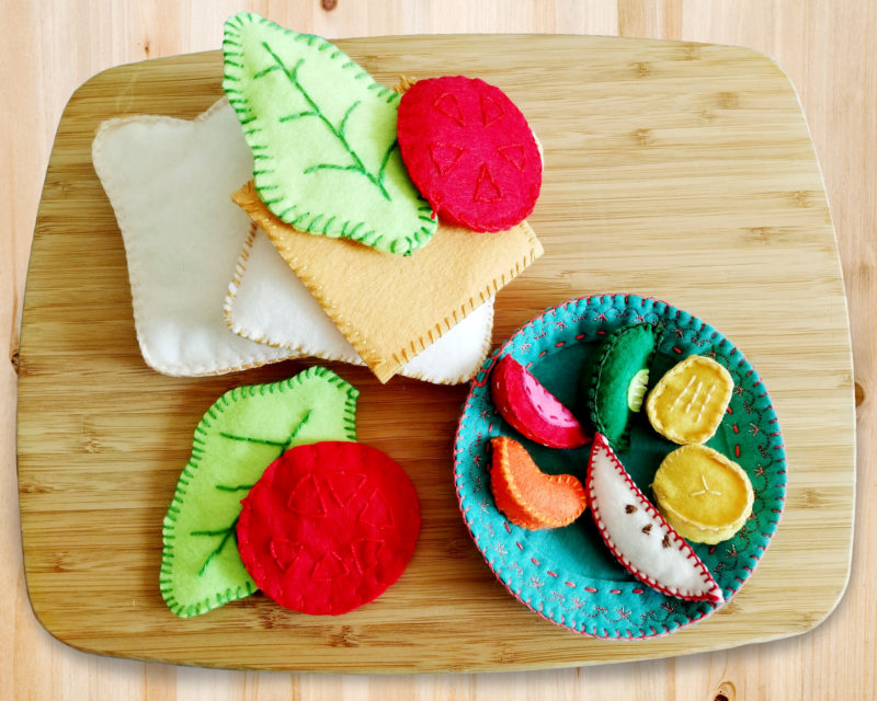 Take your pick from our selection of scrumptious felt food, and enjoy hours of hand sewing fun! This beginner-friendly pattern gives you a menu of delight.