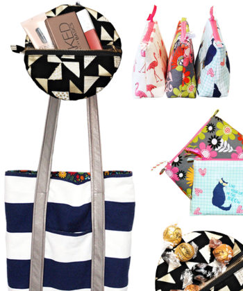 Sew your wrapping paper! The Tote Bag, Zoe Zip Pouches, and Zip Ornaments are all brilliant and practical wrapping