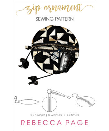 This Zip Ornaments sewing pattern is sensationally simply and incredibly versatile! Use them to decorate zips or as a decoration with a zip.