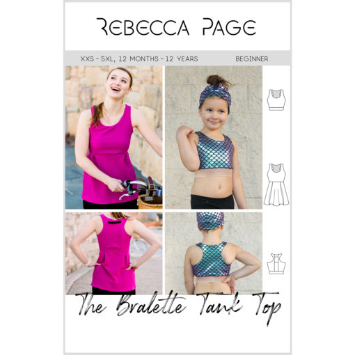 From crop top to workout top, with an optional phone pocket, this tank top sewing pattern takes you where you need to go.