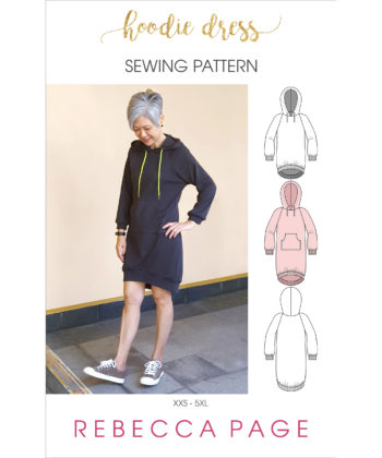 Learn how to make yourself a cute, cozy and easy-to-sew ladies hoodie dress that is the ultimate in casual comfort. Comes in sizes XXS to 5XL.