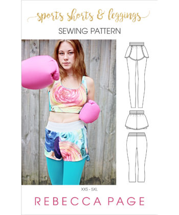 Get your workout wardrobe customised to perfection when you mix and match your ladies sports leggings and shorts sewing patterns.