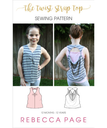 Whip up a cute top in less than an hour with this quick and easy childrens loose top sewing pattern! Comes in sizes 12 months to 12 years.