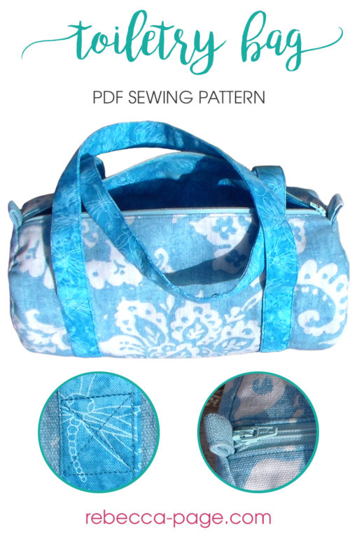 Keep track of all your small stuff with this scrap-busting toiletry bag sewing pattern. It's a cute carry all perfect for toiletries and other bits 'n bobs.